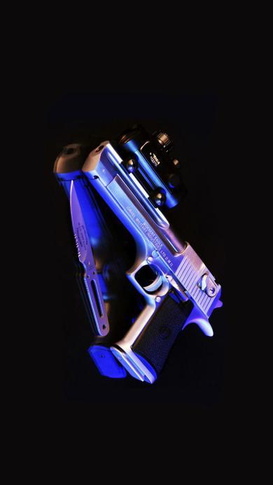 手枪 武器 枪支 枪械 黑暗