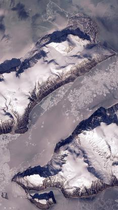 航拍 雪山 俯视 大自然 地质 地理