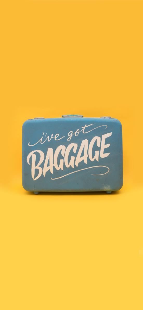 行李箱 黄色 旅行 箱子