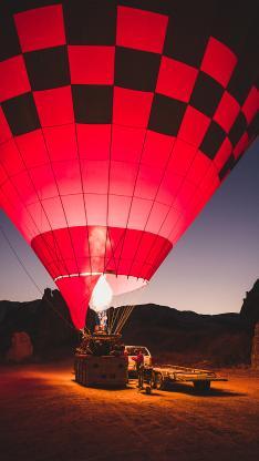 热气球 火焰 上升 凌晨