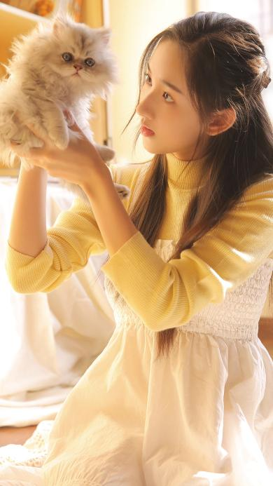美女 写真 喵星人 布偶猫