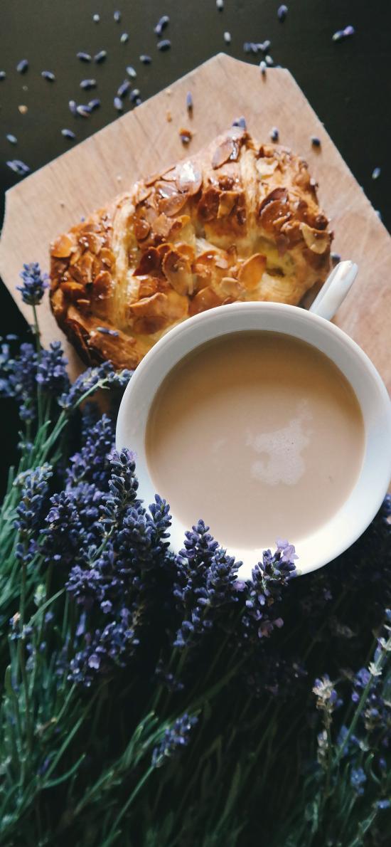 薰衣草 香味 奶茶 面包
