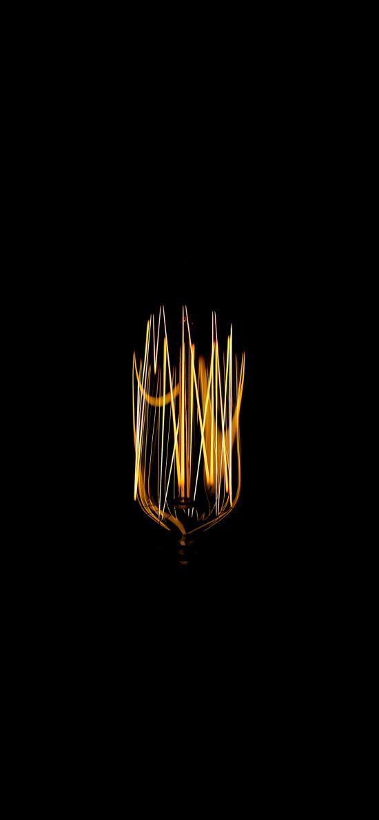 创意 黑 光亮线条 钨丝 发亮