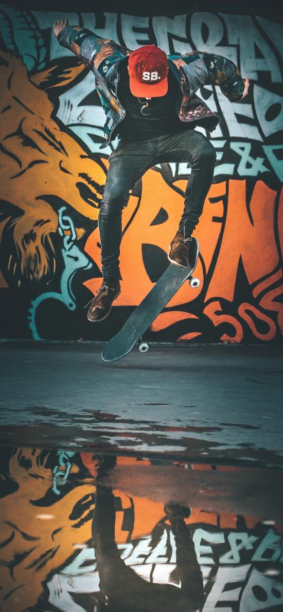 滑板 运动 竞技 涂鸦