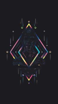 抽象 创意 迷幻 菱格