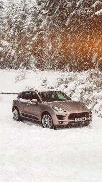 保时捷 雪地 下雪 冬季 郊外