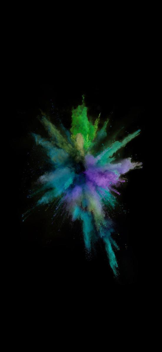 IOS10官方内置壁纸 粉 喷射 蓝色 色彩