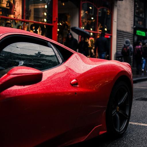 跑车 帅气 红 街头