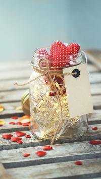 爱心 玻璃瓶 创意 静物