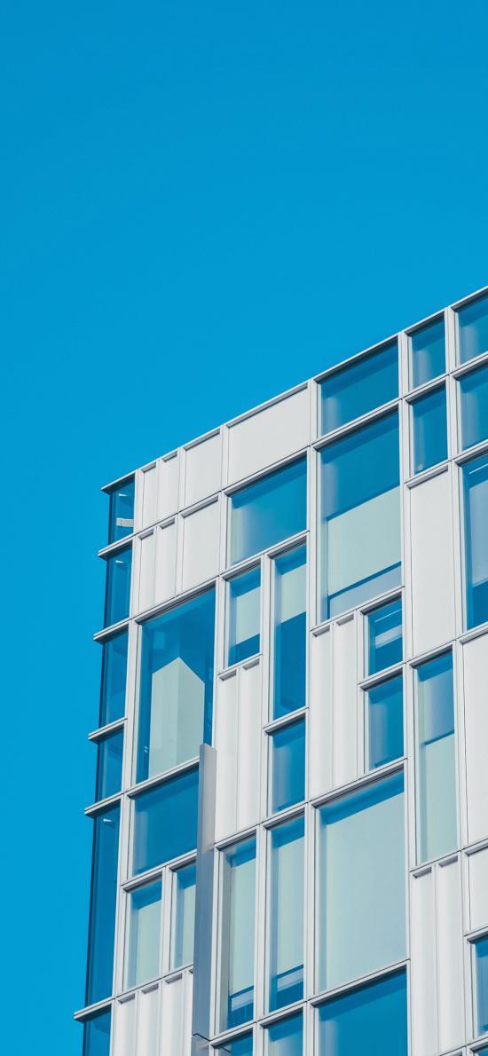 建筑 蓝色 几何 玻璃 现代