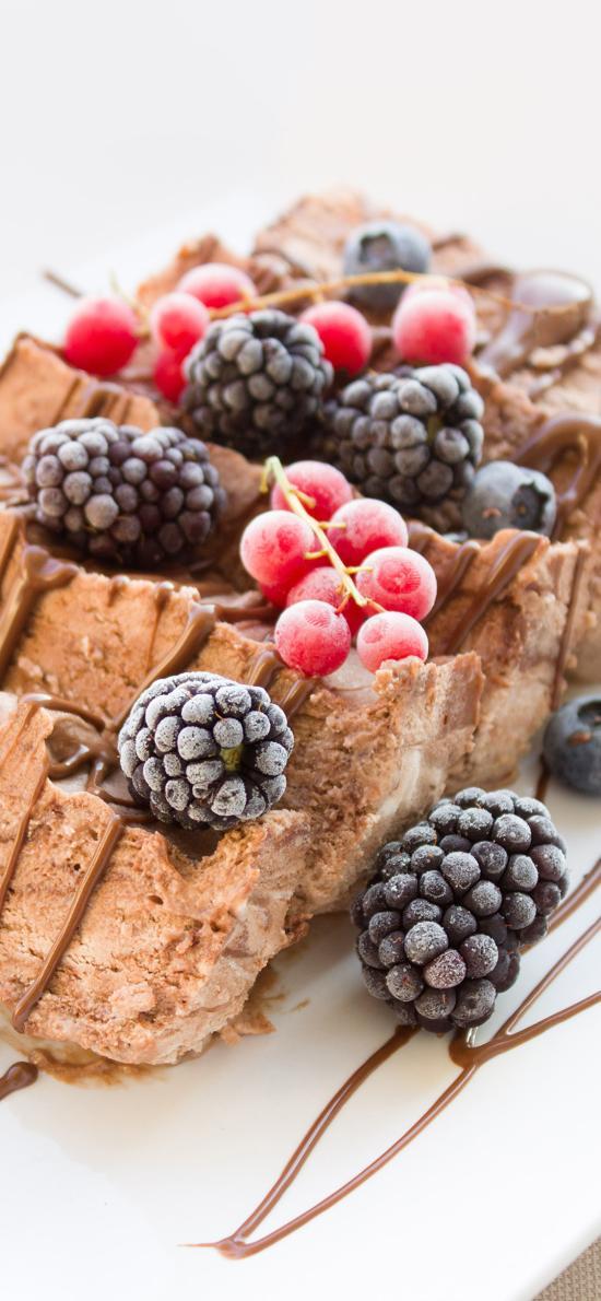甜品 蛋糕 黑树莓 小浆果