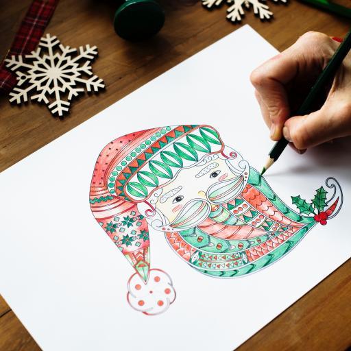 手绘  圣诞老人 创意  趣味