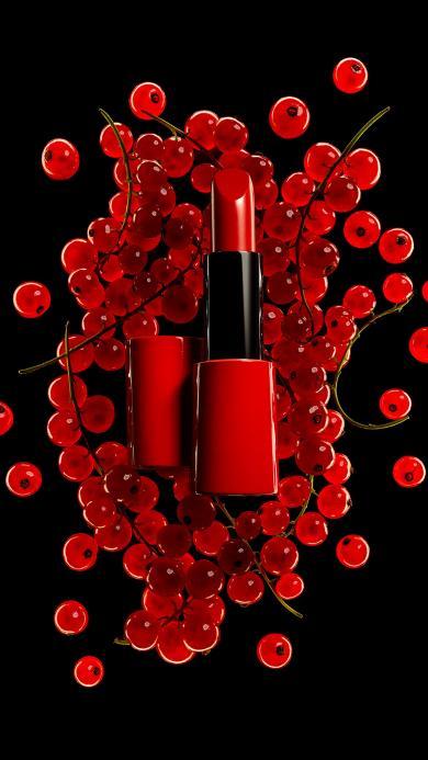 口红 化妆品 女性 时尚 红黑