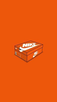 鞋盒 耐克 运动鞋 球鞋 橘色