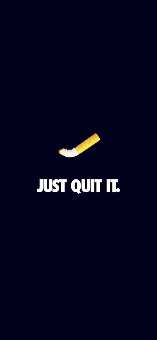 JUST QUIT IT 戒烟广告 香烟 黑色
