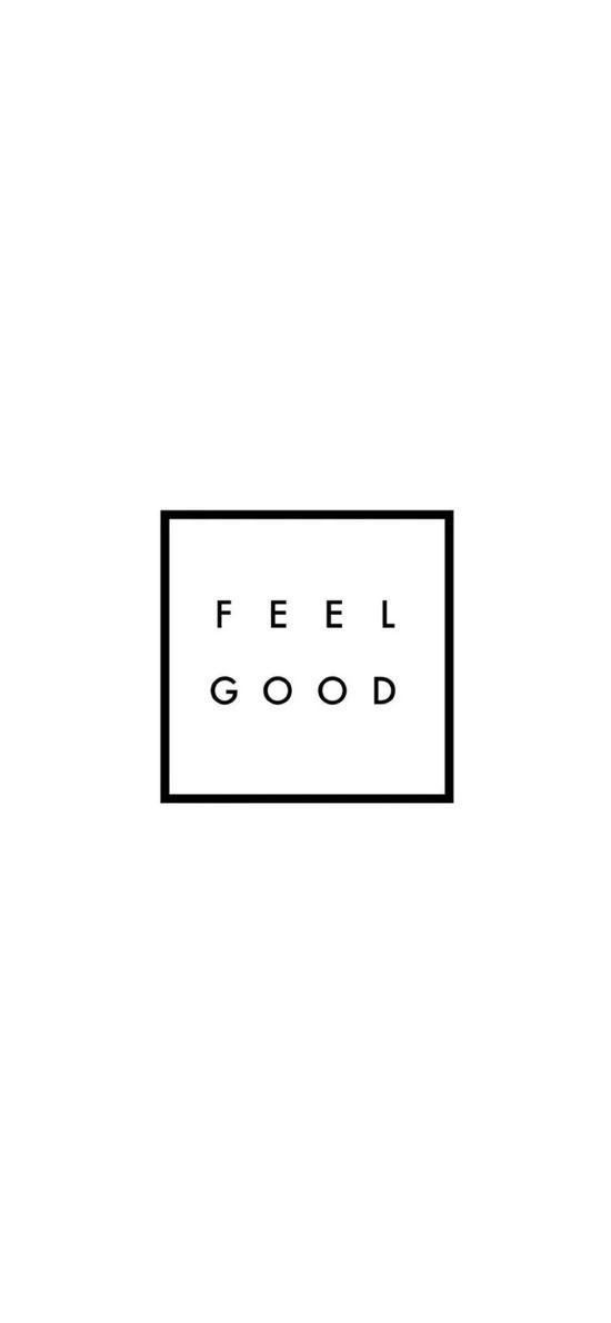 FEEL GOOD 感觉很好 黑白 正方形 英文