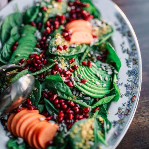 沙拉 牛油果 素食 健康