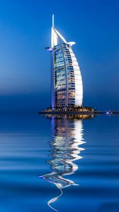 迪拜 大海 帆船酒店 建筑