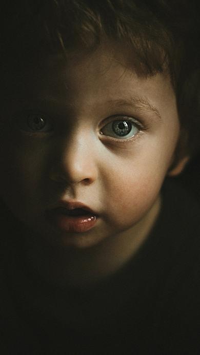 欧美萌娃 卷发 蓝瞳 小男孩