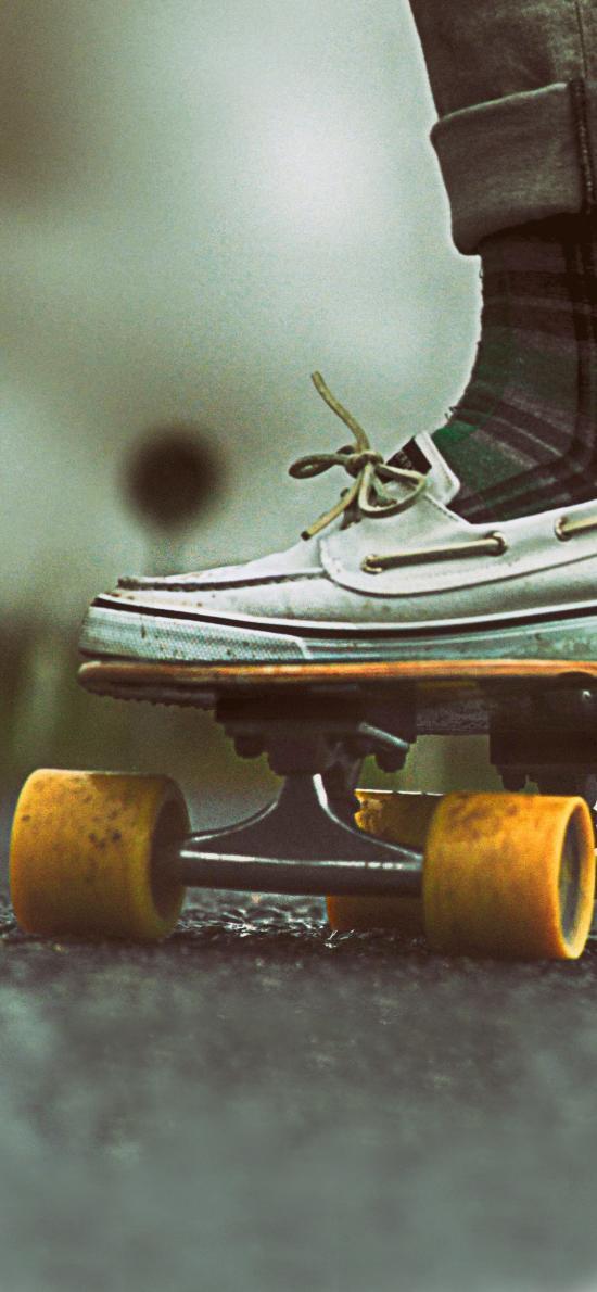 滑板 休闲运动 白色皮鞋