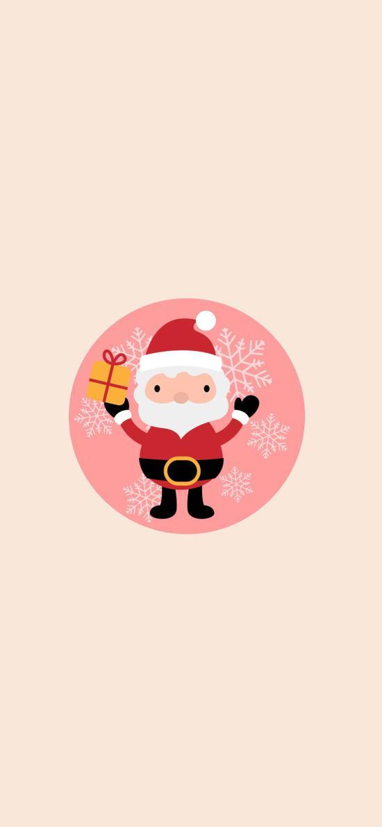 merry christmas 圣诞 圣诞老人 雪花 礼物