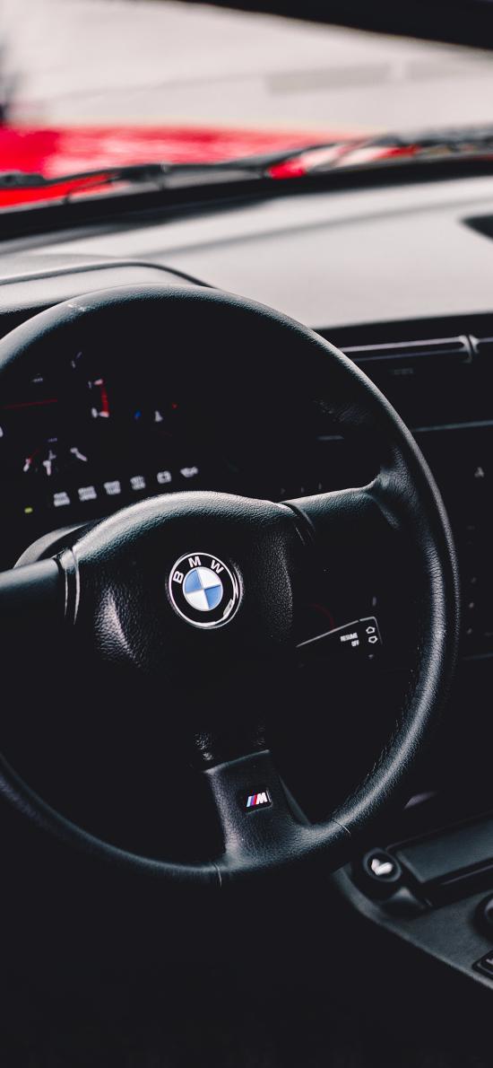 寶馬 跑車 方向盤 內飾 黑色