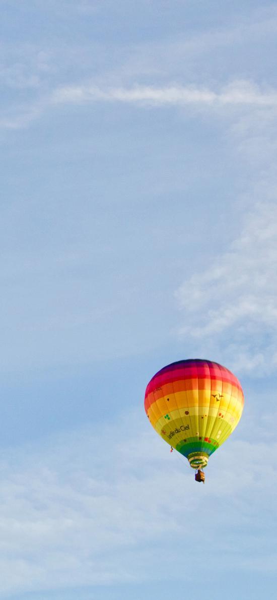 热气球 天空 云彩 简约