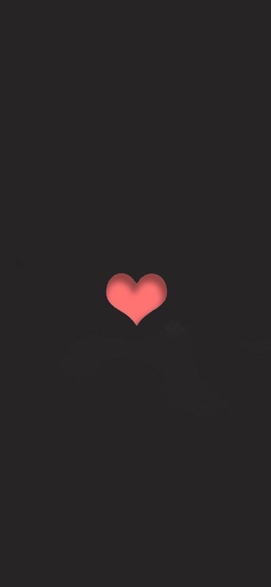 爱情 桃心 爱心  黑色