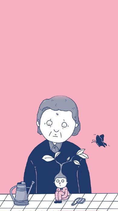 插画 创意 蝴蝶 发芽