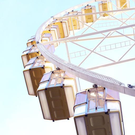 天空 游乐园 娱乐设施 摩天轮
