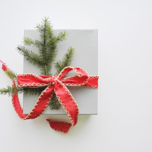 圣诞 礼物 礼盒 捆扎 松枝