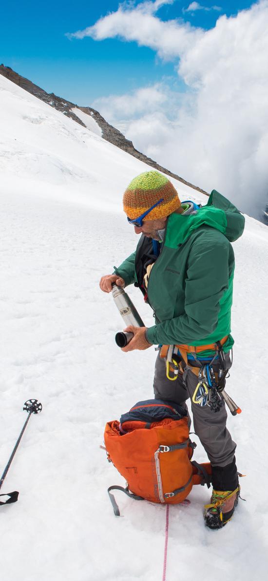 登山 运动 高山 雪地