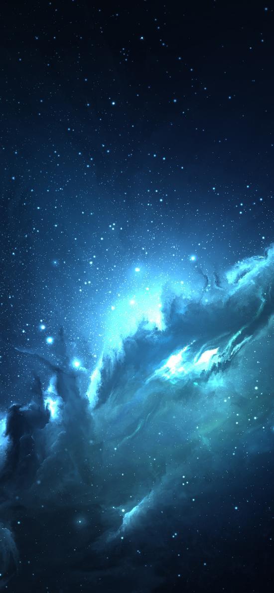 星系 天空 银河  蓝色 星空