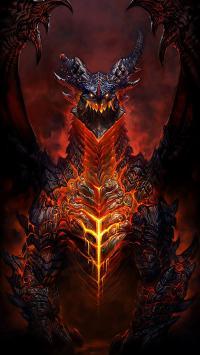 魔兽世界 角色 原画 红黑