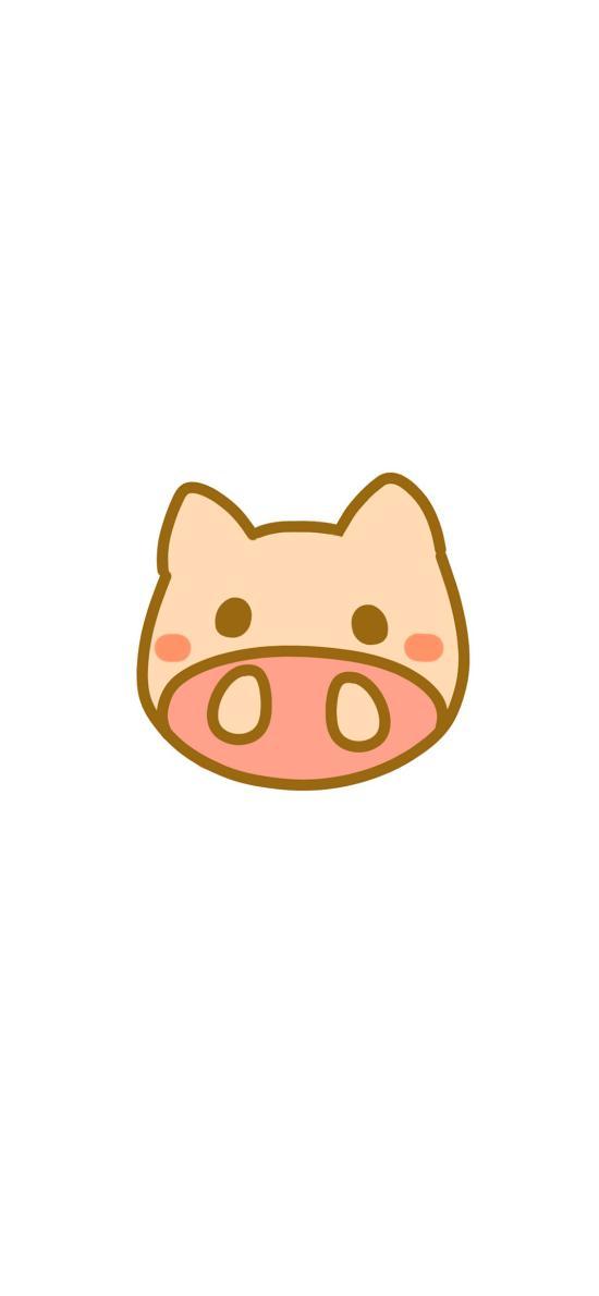 猪 卡通 简笔 可爱 动物 萌