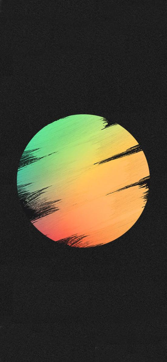 色彩 日落 创意 夜晚 手绘