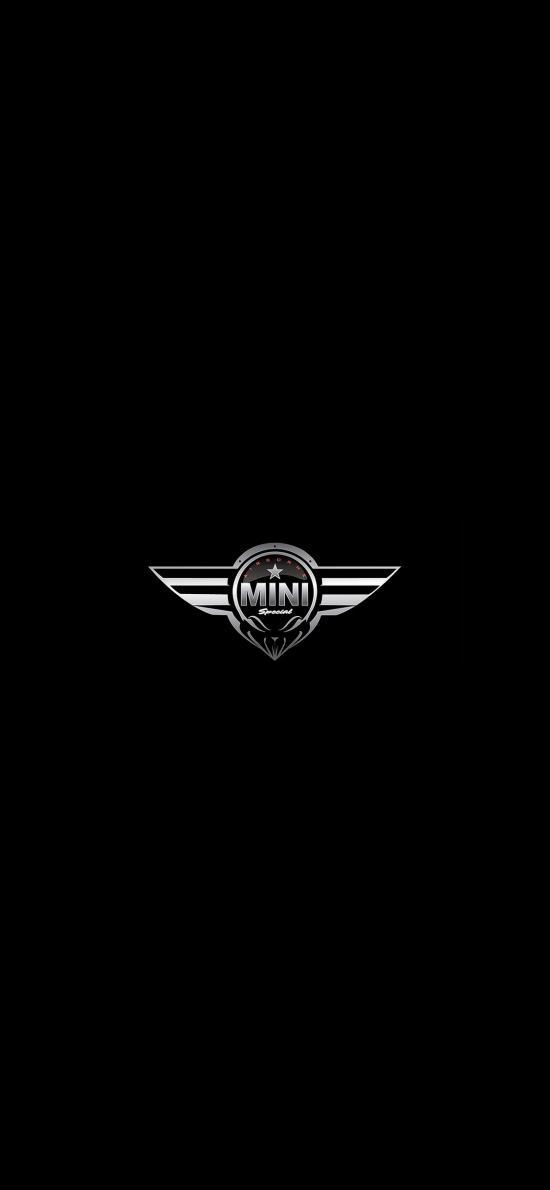 MINI 宝马 标志 logo 黑白