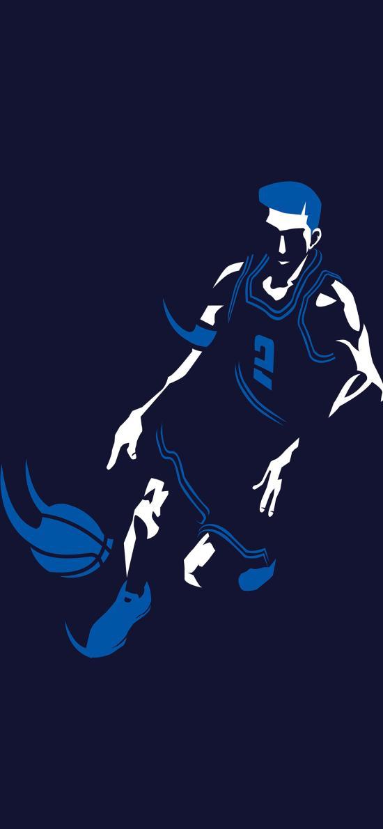 篮球 运动 奔跑 平面