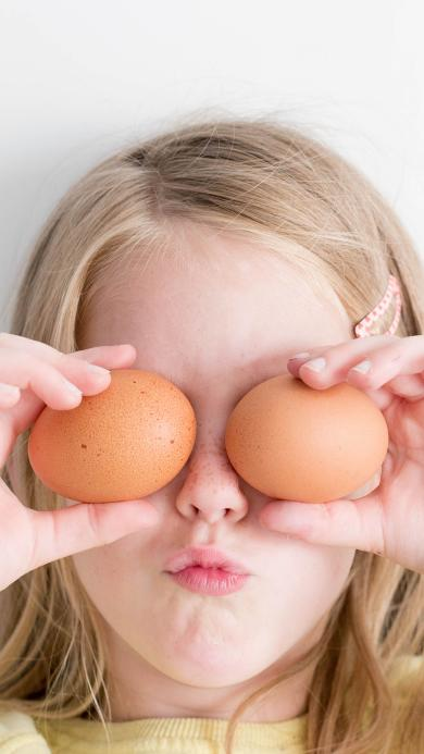 小女孩 欧美 搞怪 鸡蛋 可爱
