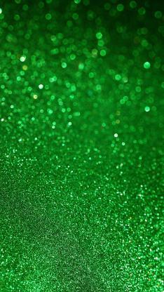 绿色背景 荧光 金粉 简约