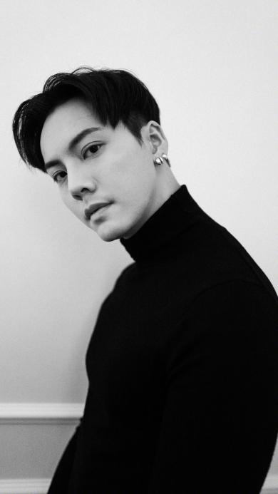 陈伟霆 香港 歌手 演员 黑白 明星