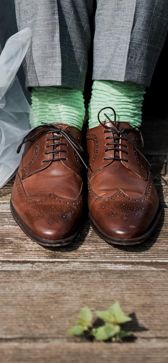 情侣  皮鞋 西装