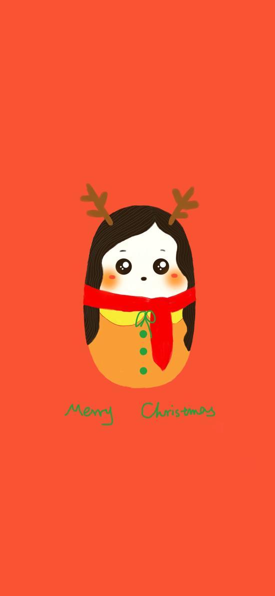 圣诞 merry Christmas 情侣壁纸
