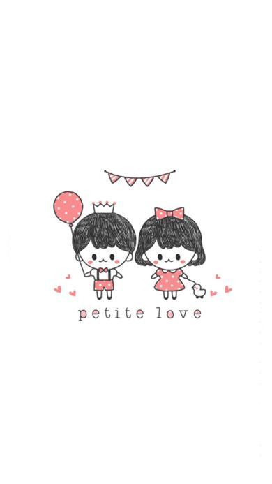手绘 创意 气球 情侣 petite love