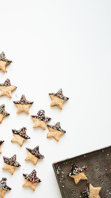 饼干 星星 点缀 巧克力