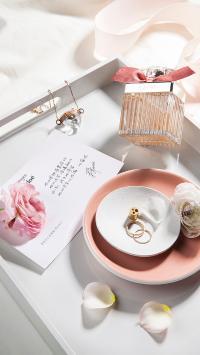 化妆品 香水 鲜花 卡片