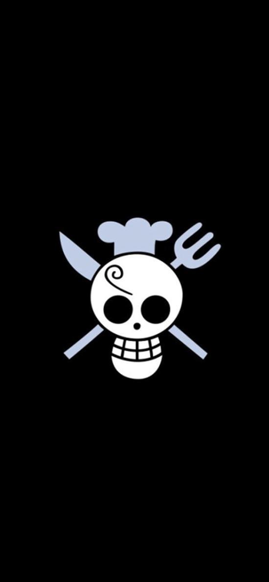 海贼王 动漫 骷髅头 卡通 黑色 漫画
