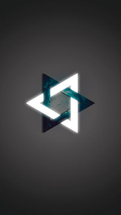 创意 六角星 logo 图标