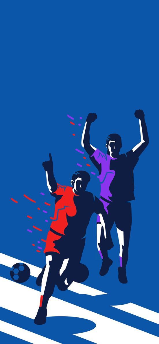 足球 蓝色 运动 球员 动作