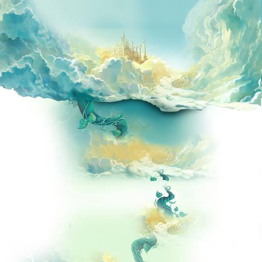 场景 插画 天空 城堡